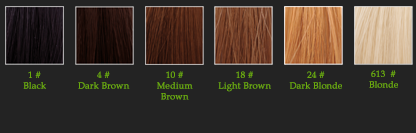 AFROline Indian wefted hair colours
